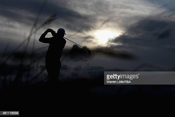 Jason Day of Australia hits his tee shot on the sixth hole during the second round of the 144th Open Championship at The Old Course on July 17 2015...