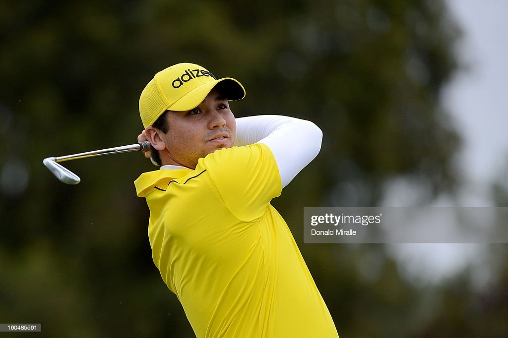 Jason Day of Australia hits off the tee box during the First Round at the Farmers Insurance Open at Torrey Pines Golf Course on January 24, 2013 in La Jolla, California.