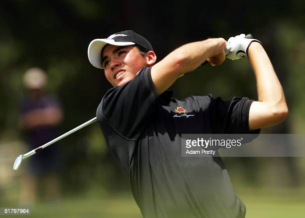 Jason Day of Australia in action during his final round of the Hillross Australian Open at the Australian Golf Club November 28 2004 in Sydney...