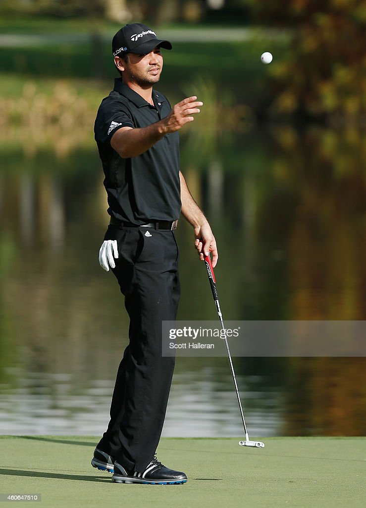 Jason Day of Australia in action during the final round of the Hero World Challenge at the Isleworth Golf & Country Club on December 7, 2014 in Windermere, Florida.
