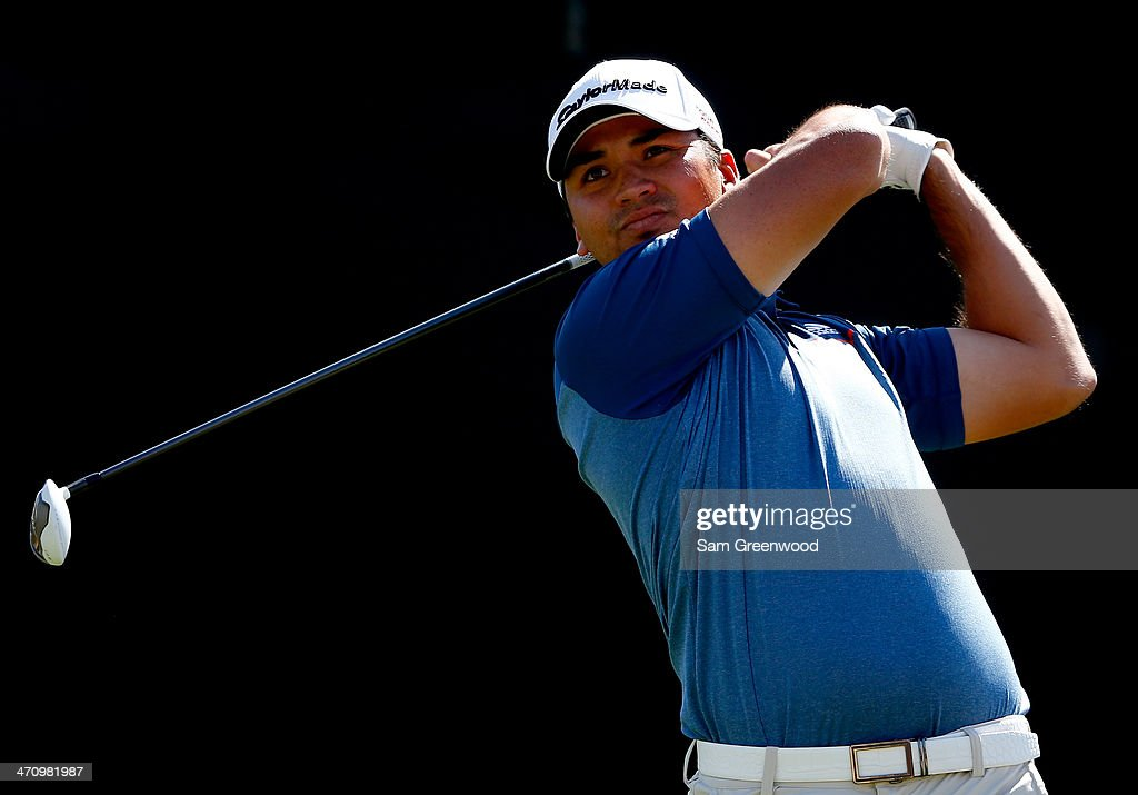 <a gi-track='captionPersonalityLinkClicked' href=/galleries/search?phrase=Jason+Day+-+Golfer&family=editorial&specificpeople=4534484 ng-click='$event.stopPropagation()'>Jason Day</a> of Australia plays a shot during the second round of the World Golf Championships - Accenture Match Play Championship at The Golf Club at Dove Mountain on February 20, 2014 in Marana, Arizona.
