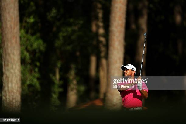 Jason Day of Australia plays a shot on the 15th hole uring the final round of THE PLAYERS Championship at the Stadium course at TPC Sawgrass on May...
