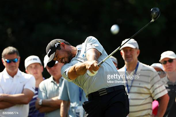 Jason Day of Australia plays his shot from the 15th tee during the first round of THE PLAYERS Championship at the Stadium course at TPC Sawgrass on...
