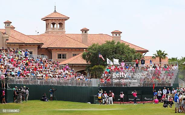 Jason Day of Australia plays his shot from the first tee during the final round of THE PLAYERS Championship at the Stadium course at TPC Sawgrass on...