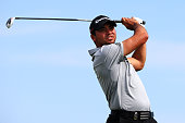 Jason Day of Australia plays his shot from the ninth tee during the second round of the 2015 PGA Championship at Whistling Straits on August 14 2015...