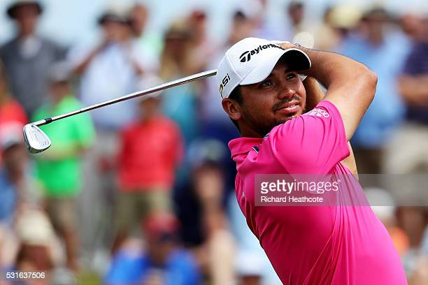 Jason Day of Australia plays his shot from the third tee during the final round of THE PLAYERS Championship at the Stadium course at TPC Sawgrass on...