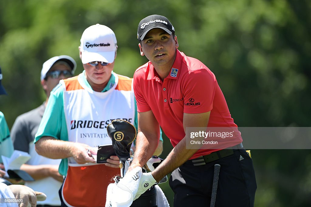 <a gi-track='captionPersonalityLinkClicked' href=/galleries/search?phrase=Jason+Day+-+Golfer&family=editorial&specificpeople=4534484 ng-click='$event.stopPropagation()'>Jason Day</a> of Australia prepares to see off on the third hole during the first round of the World Golf Championships-Bridgestone Invitational at Firestone Country Club on June 30, 2016 in Akron, Ohio.