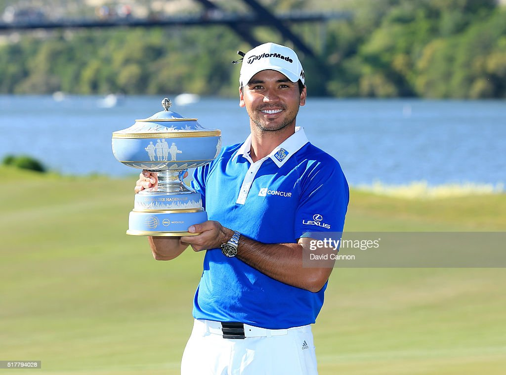 Jason Day of Australia proudly holds the Walter Hagen Cup after his 5&4 victory over Louis Oosthuizen in the championship match of the World Golf Championships-Dell Match Play at the Austin Country Club on March 27, 2016 in Austin, Texas.