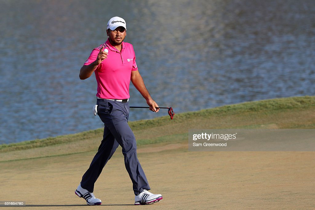 Jason Day of Australia reacts during the final round of THE PLAYERS Championship at the Stadium course at TPC Sawgrass on May 15, 2016 in Ponte Vedra Beach, Florida.
