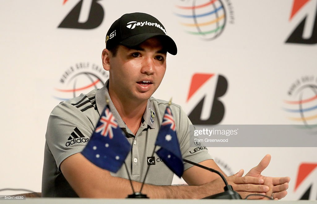 <a gi-track='captionPersonalityLinkClicked' href=/galleries/search?phrase=Jason+Day+-+Golfer&family=editorial&specificpeople=4534484 ng-click='$event.stopPropagation()'>Jason Day</a> of Australia speaks to the media regarding his withdrawal from the Olympic games in Brazil during a press conference for the World Golf Championships-Bridgestone Invitational at Firestone Country Club South Course on June 28, 2016 in Akron, Ohio.