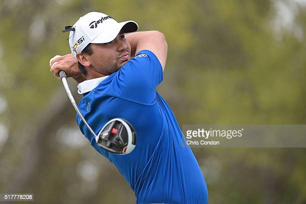 Jason Day of Australia tees off on the 12th hole during Round 6 of the World Golf Championships Dell Match Play at Austin Country Club on March 27...