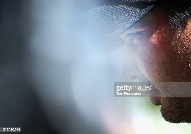 Jason Day of Australia waits on the practice ground during the second round of the World Golf ChampionshipsDell Match Play at the Austin Country Club...