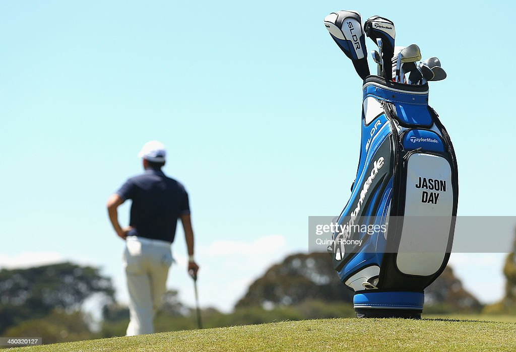 <a gi-track='captionPersonalityLinkClicked' href=/galleries/search?phrase=Jason+Day+-+Golfer&family=editorial&specificpeople=4534484 ng-click='$event.stopPropagation()'>Jason Day</a> of Australia waits to putt during practice ahead of the World Cup Of Golf at Royal Melbourne Golf Course on November 18, 2013 in Melbourne, Australia.