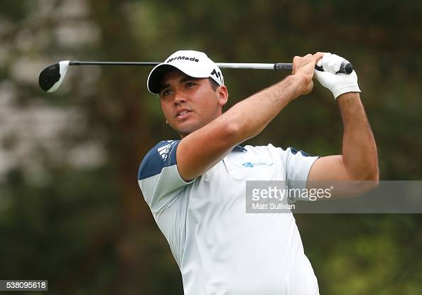 Jason Day of Australia watches his tee shot on the second hole during the third round of The Memorial Tournament at Muirfield Village Golf Club on...