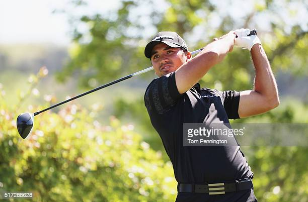 Jason Day of Australia watches his tee shot on the sixth hole during the second round of the World Golf ChampionshipsDell Match Play at the Austin...