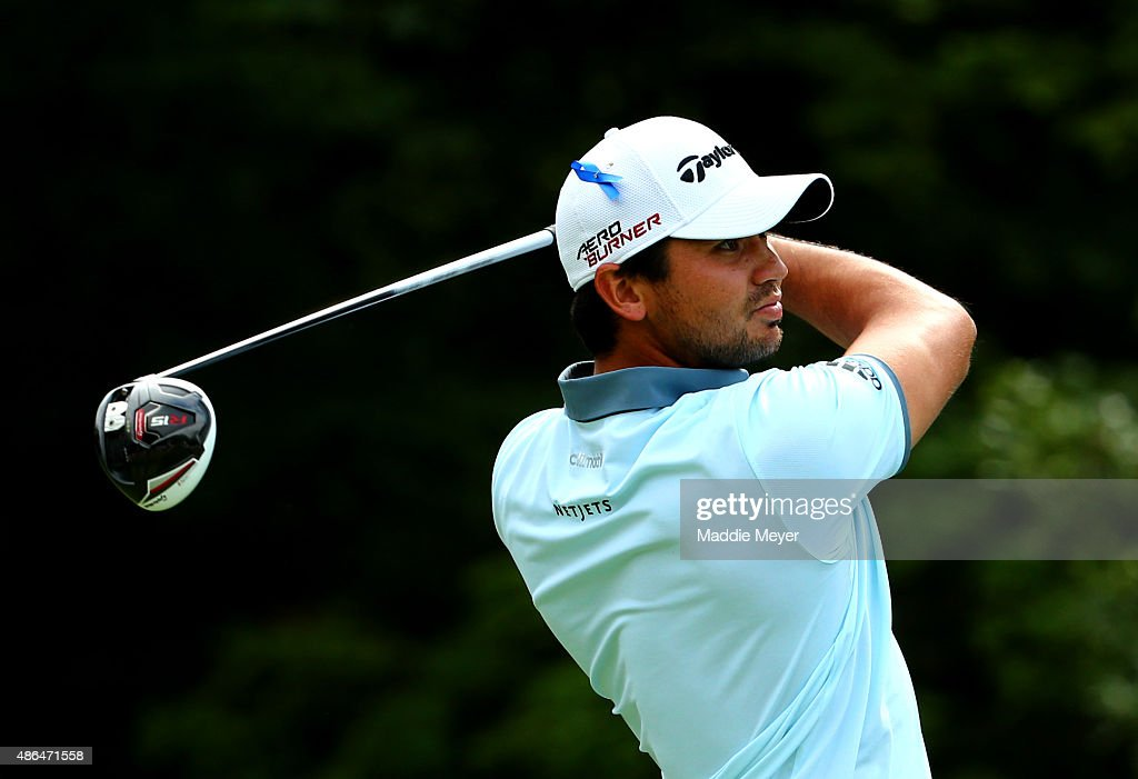 Jason Day of Australia watches his tee shot on to the fourteenth tee during round one of the Deutsche Bank Championship at TPC Boston on September 4, 2015 in Norton, Massachusetts.