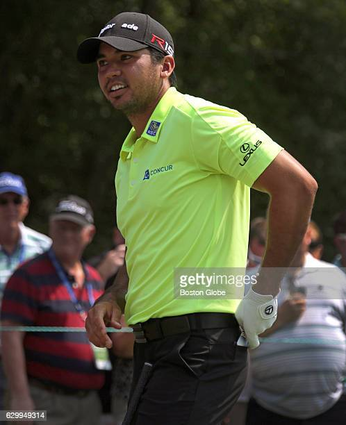 Jason Day waits to tee off on Tee no 1 during the Deutsche Bank Proam event at TPC Boston in Norton MA on Sep 3 2015