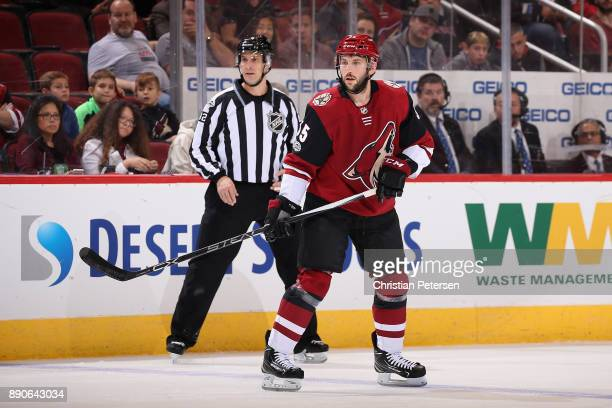 Jason Demers of the Arizona Coyotes in action during the third period of the NHL game against the New Jersey Devils at Gila River Arena on December 2...