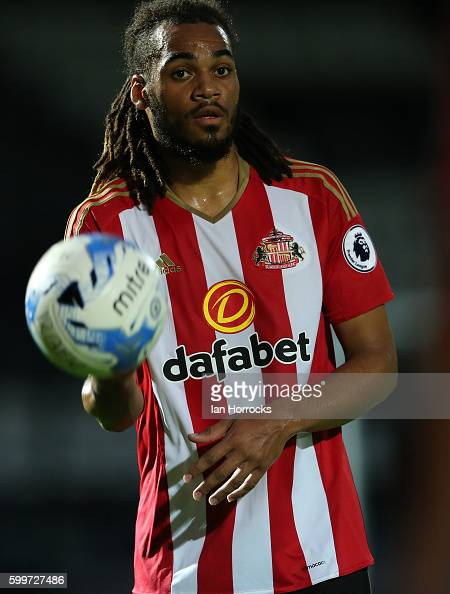 Jason Denayer of Sunderland during the U23 EFL Checkertrade Trophy Group F match between Rochdale and Sunderland U23 at Spotland Stadium on September...
