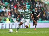 Jason Denyer of Celtic controls the ballduring the Scottish Premiership League Match between Celtic and Dundee United at Celtic Park on August 16...