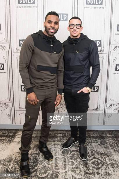 Jason Derulo and Antonio Brown visit Build Studio to discuss Level 13 Fashion at Build Studio on September 14 2017 in New York City