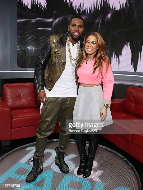 Jason Derulo and Keshia Chante attend 106 Park at BET studio on October 22 2014 in New York City