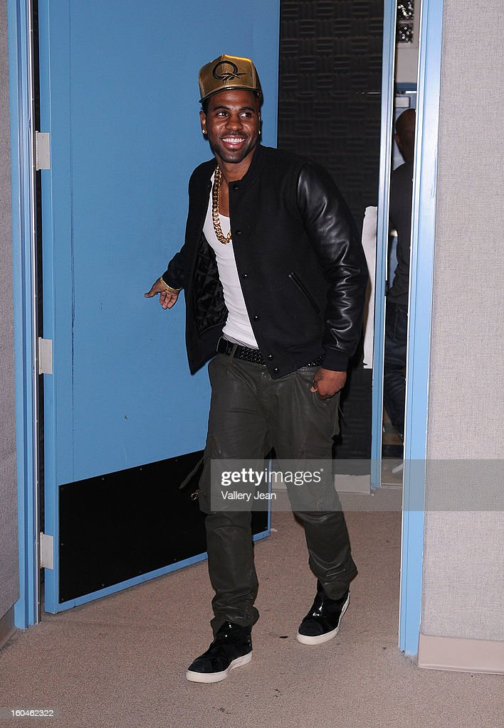 <a gi-track='captionPersonalityLinkClicked' href=/galleries/search?phrase=Jason+Derulo&family=editorial&specificpeople=5745869 ng-click='$event.stopPropagation()'>Jason Derulo</a> appears at William H. Turner Technical Arts High School's Talent Show on January 31, 2013 in Miami, Florida.