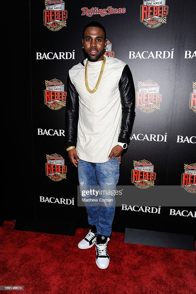<a gi-track='captionPersonalityLinkClicked' href=/galleries/search?phrase=Jason+Derulo&family=editorial&specificpeople=5745869 ng-click='$event.stopPropagation()'>Jason Derulo</a> attends the 2013 Bacardi Rebels event hosted by Rolling Stone at Roseland Ballroom on May 20, 2013 in New York City.