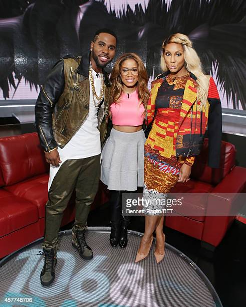 Jason Derulo Keshia Chante and Tamar Braxton attend 106 Park at BET studio on October 22 2014 in New York City