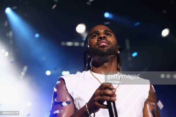 Jason Derulo performs at #YouTubeOnstage at VidCon 2017 at Anaheim Convention Center on June 21 2017 in Anaheim California