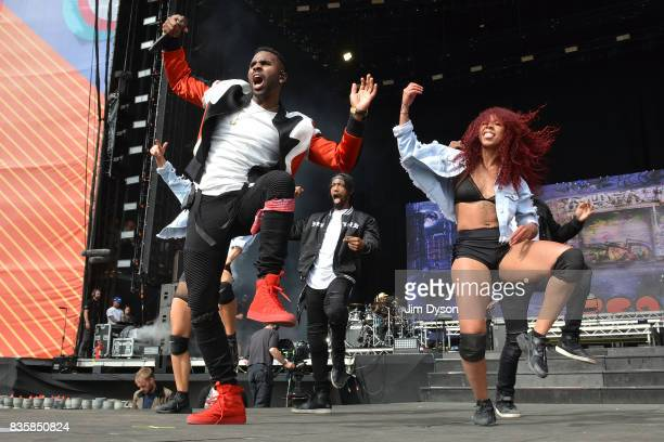 Jason Derulo performs live on stage during V Festival 2017 at Hylands Park on August 20 2017 in Chelmsford England