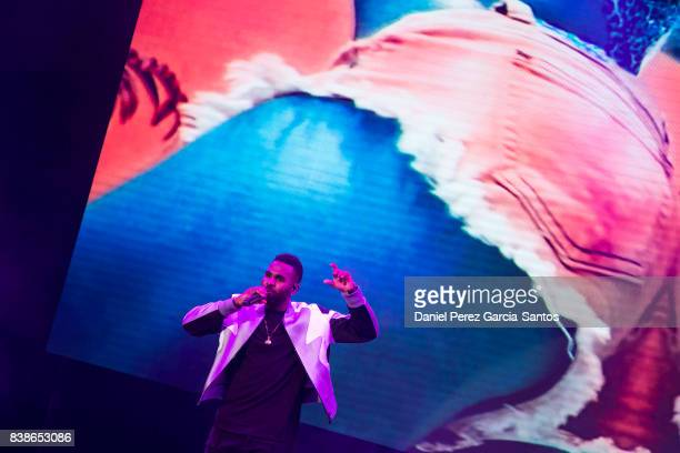 Jason Derulo performs on stage during a concert at the Starlite music festival on August 24 2017 in Marbella Spain