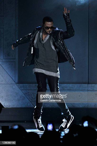 Jason Derulo performs on stage during the MOBO Awards 2011 at the SECC on October 5 2011 in Glasgow Scotland
