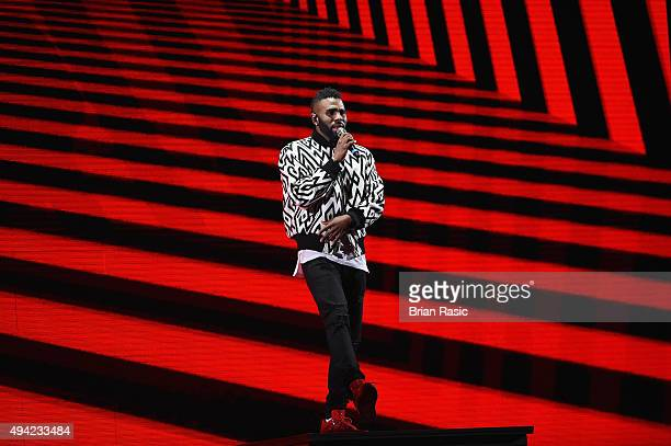 Jason Derulo performs on stage during the MTV EMA's 2015 at the Mediolanum Forum on October 25 2015 in Milan Italy
