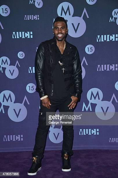 Jason Derulo poses in the press room at the 2015 MuchMusic Video Awards at MuchMusic HQ on June 21 2015 in Toronto Canada