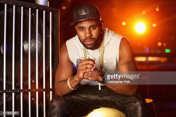 Jason Derulo poses in the Wonderwall Portrait Studio at the iHeartRadio Ultimate Pool Party Presented by VISIT FLORIDA at Fontainebleau's BleauLive...