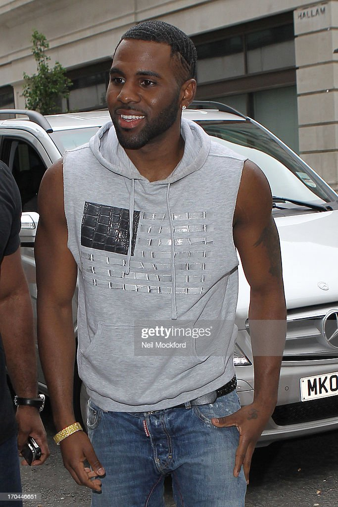 Jason Derulo seen at BBC Radio One on June 13, 2013 in London, England.