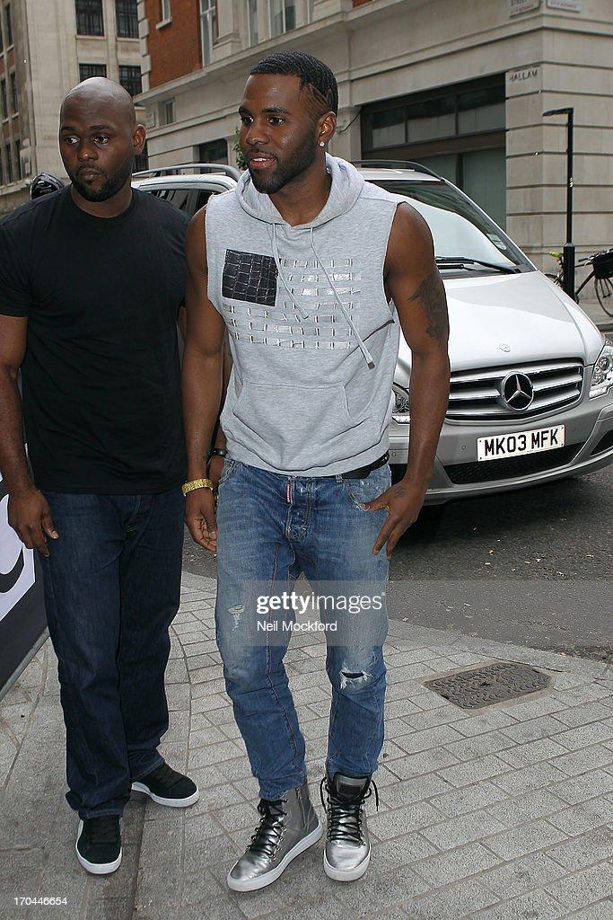Jason Derulo seen at BBC Radio One on June 13, 2013 in London, England.