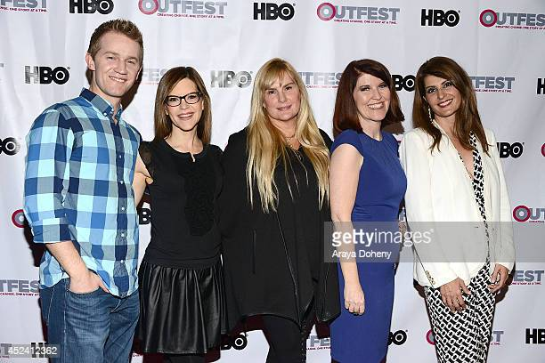 Jason Dolley Lisa Loeb Salome Breziner Kate Flannery and Nia Vardalos attends the 2014 Outfest Los Angeles screening Of 'Helicopter Mom' at Ford...