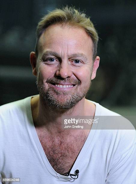 Jason Donovan as Parson Nathaniel performs during a dress rehearsal for 'War of the Worlds' on November 25 2014 in London England