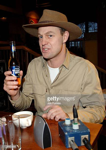 Jason Donovan during Jason Donovan Joins Johnny Vaughan on the Capital Radio Breakfast Show to Celebrate Australia Day at Walkabout in London Great...