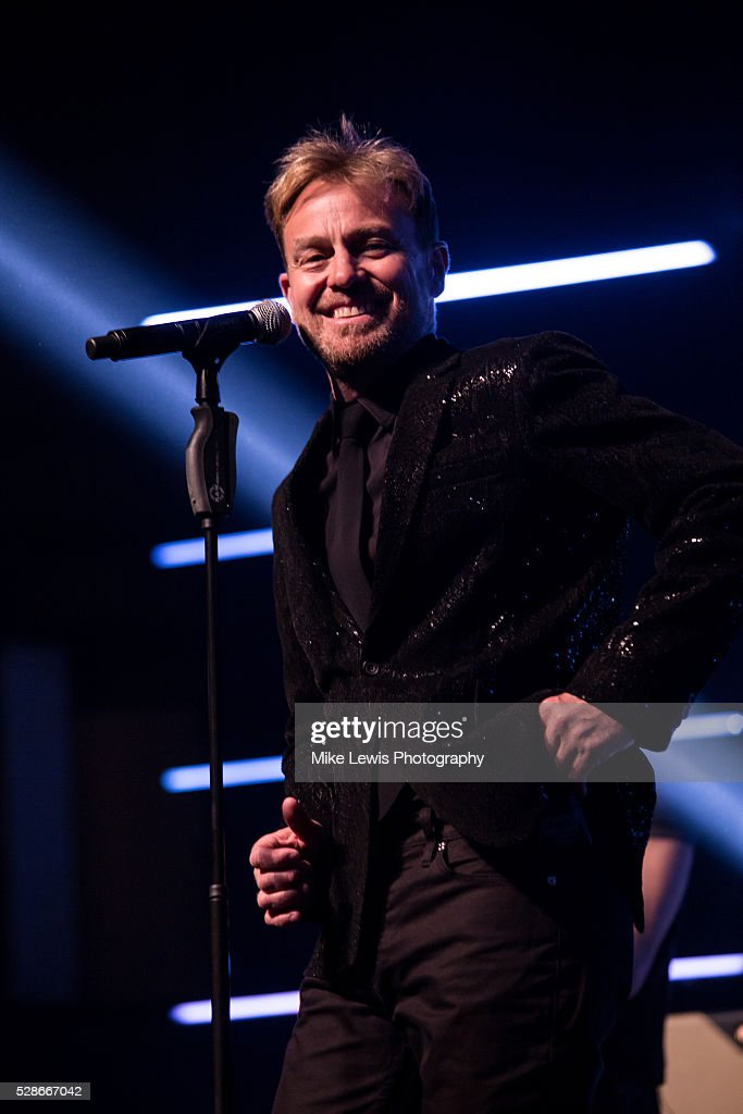Jason Donovan performs at St David's Hall on May 6, 2016 in Cardiff, Wales.