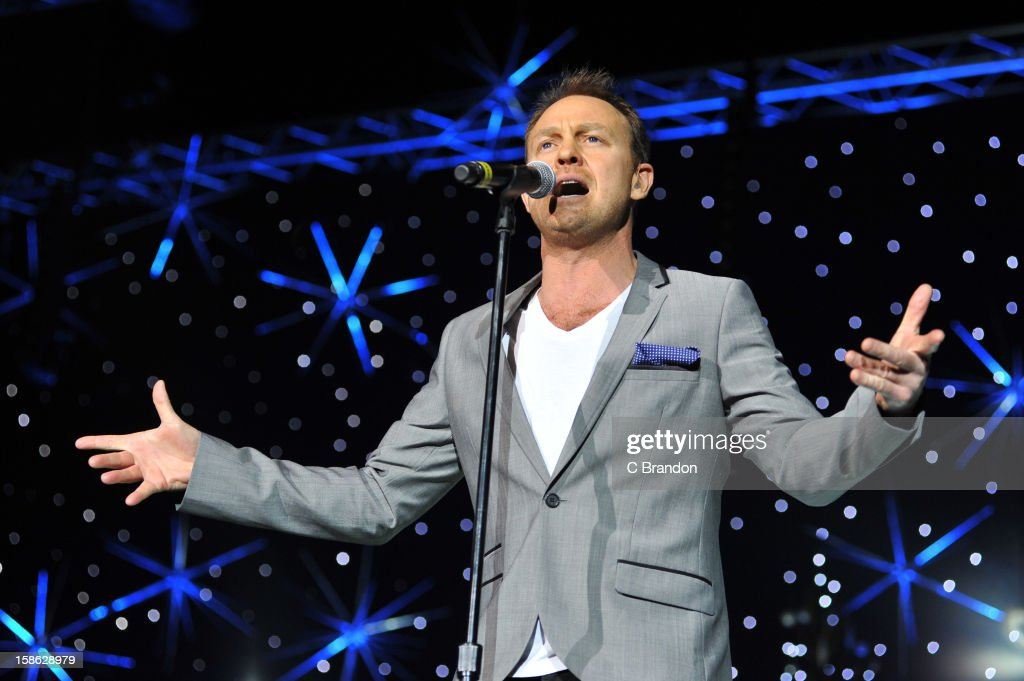 <a gi-track='captionPersonalityLinkClicked' href=/galleries/search?phrase=Jason+Donovan&family=editorial&specificpeople=211570 ng-click='$event.stopPropagation()'>Jason Donovan</a> performs on stage at the Hit Factory Live: Christmas Cracker at 02 Arena on December 21, 2012 in London, England.