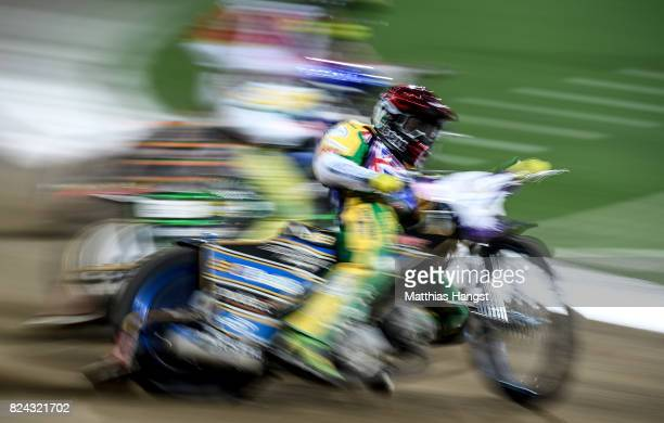 Jason Doyle of of Australia competes during the Invitation Sports Speedway competition of The World Games at the Olympic Stadium on July 29 2017 in...