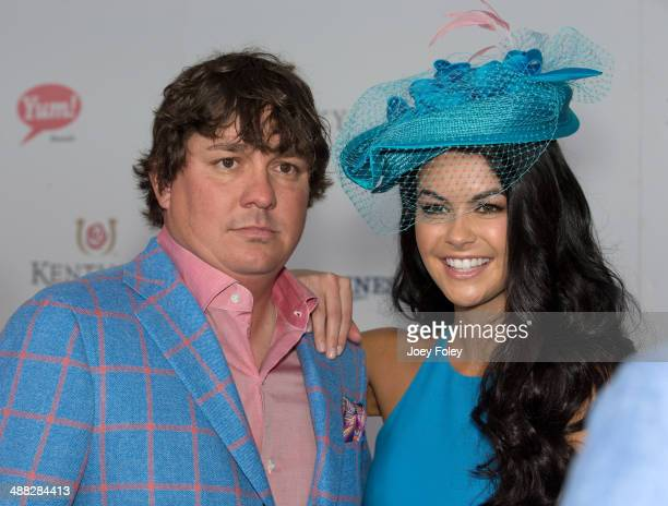 Jason Dufner and Amanda Boyd attends the 140th Kentucky Derby at Churchill Downs on May 3 2014 in Louisville Kentucky