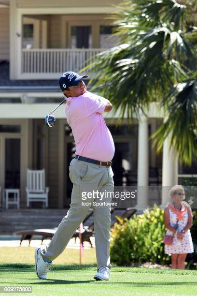 Jason Dufner during the final round of the RBC Heritage Presented by Boeing Golf Tournament on April 16 at Harbour Town Golf Links in Hilton Head...