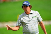 Jason Dufner of the United States makes birdie on the 11th hole during the second round of the 95th PGA Championship on August 9 2013 in Rochester...