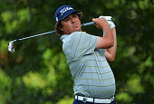 Jason Dufner of the United States watches his tee shot on the 15th hole during the second round of the 95th PGA Championship on August 9 2013 in...