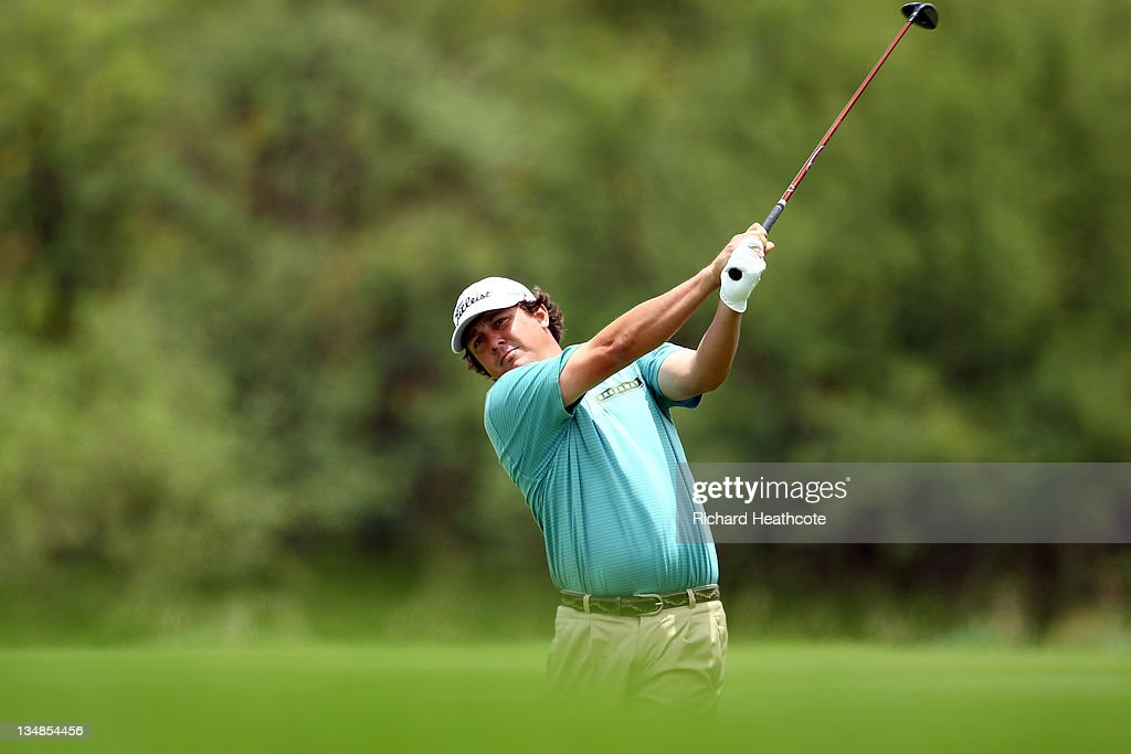 <a gi-track='captionPersonalityLinkClicked' href=/galleries/search?phrase=Jason+Dufner&family=editorial&specificpeople=561651 ng-click='$event.stopPropagation()'>Jason Dufner</a> of the USA in action during the final round of the Nedbank Golf Challenge at the Gary Player Country Club on December 4, 2011 in Sun City, South Africa.