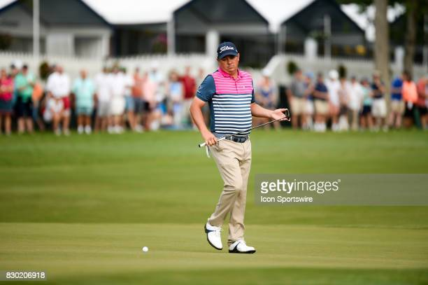 Jason Dufner on the 10th green during 2nd round action at the PGA Championship at the Quail Hollow Club on August 11 2017 in Charlotte NC
